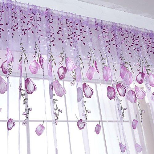 Wingogo Fenster Vorhang Roman Print Tulle Voile Vorhang ...